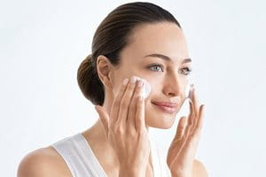 Cleanse skin before applying sun spot cream