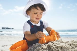 Sun protection for chilren: wear protective clothing
